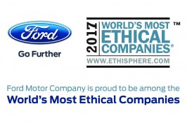 FORD AMONG WORLD'S MOST ETHICAL COMPANIES
