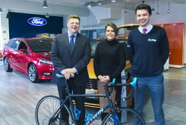 HILLS FORD TEAM TAKE TO TWO WHEELS TO RAISE MONEY FOR ST RICHARDS HOSPICE